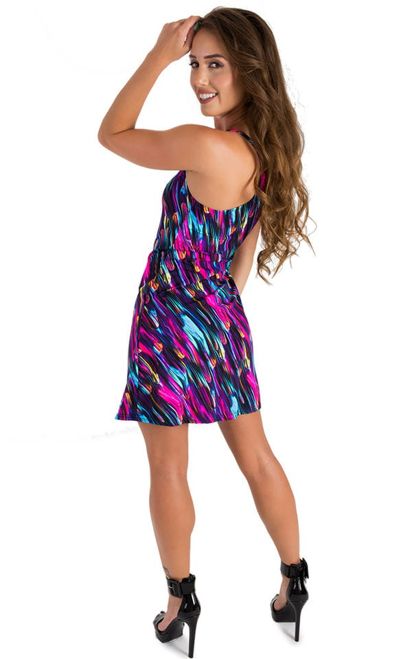 Cover Up Mini Dress in Gravity Wave 2