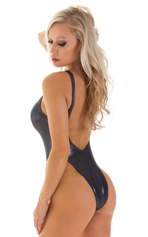 One Piece Zipper in Black Ice 2