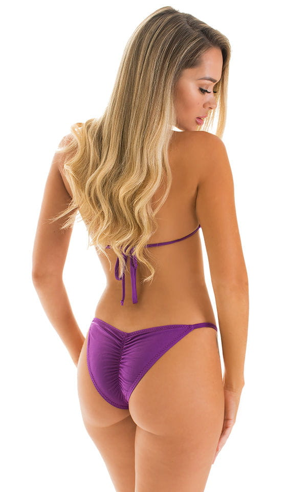purple skimpy brazilian bikni back