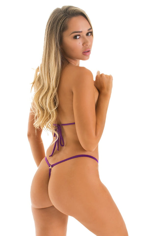 Teardrop G String Micro Bikini in ThinSKINZ Grape 2
