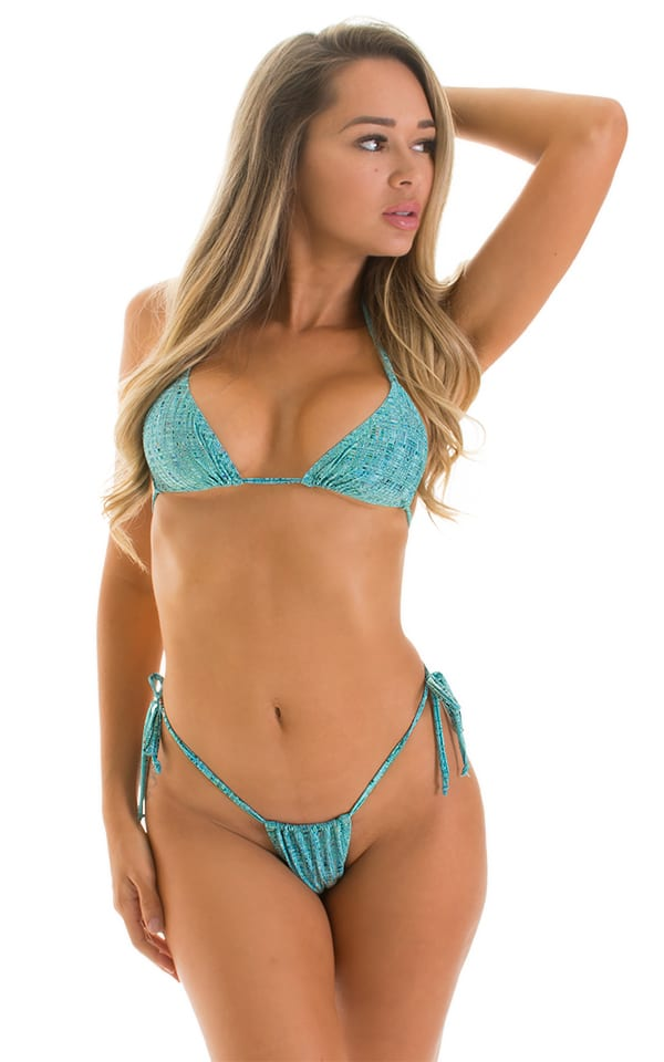 Cozumel Fully Adjustable Brazilian-Tanga in Super ThinSKINZ Seafoam Circuits 1