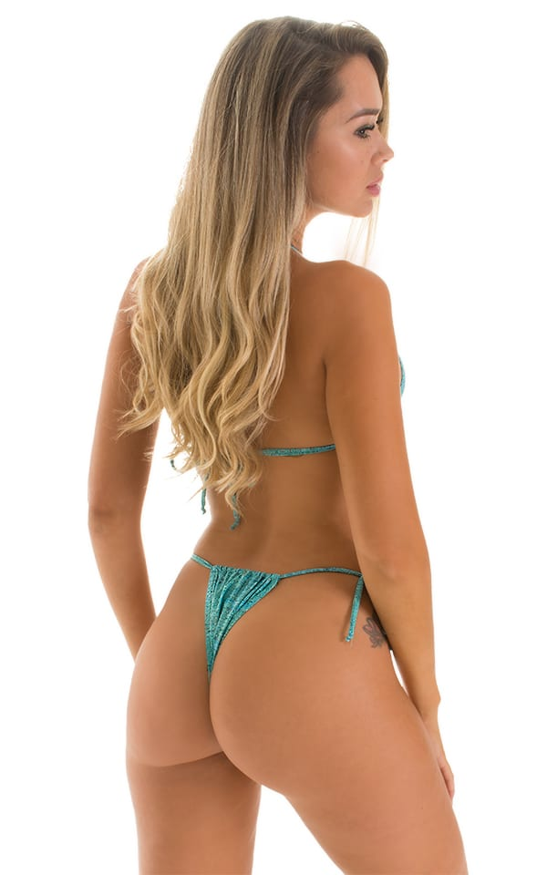 Cozumel Fully Adjustable Brazilian-Tanga in Super ThinSKINZ Seafoam Circuits 2