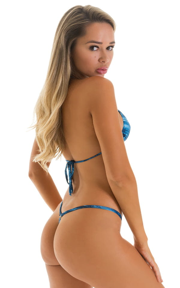 blue micro g string front back