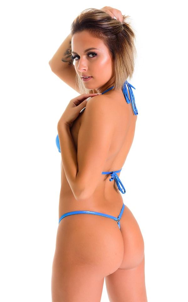 G String Bikini in Ice Karma Electric Blue 2