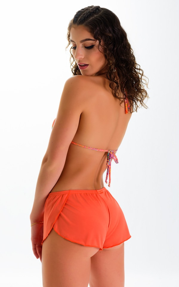 SusieQ Split Short Beach Cover-Up in ThinSKINZ Apricot 4