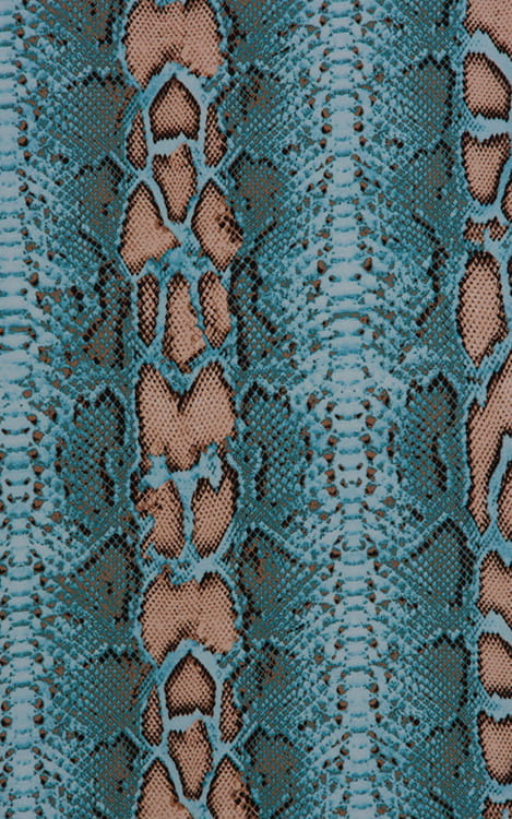 Fitted Pouch - Boxer - Swim Trunks in Aqua Python Fabric