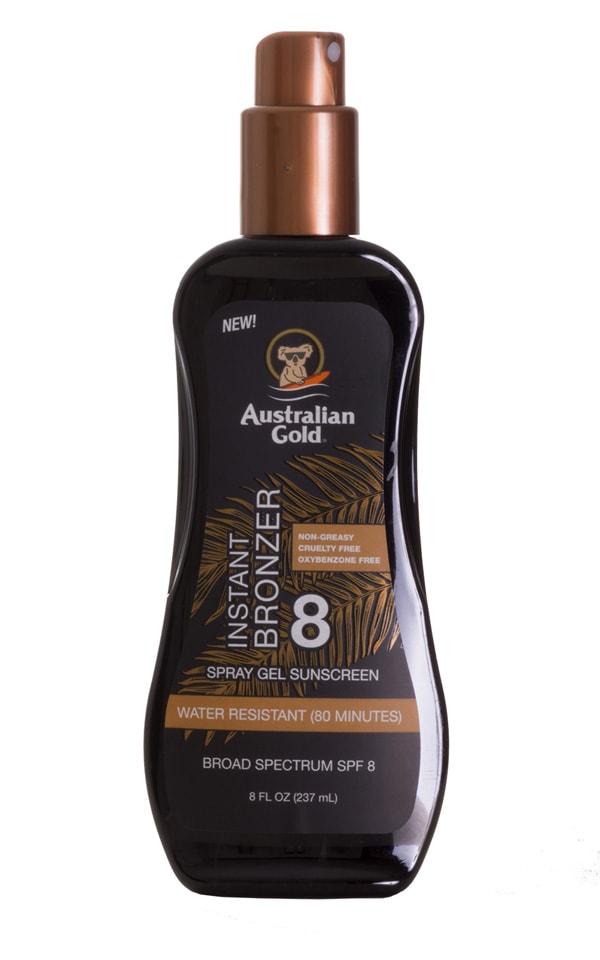 Australian Gold Instant Bronzer Spray Gel (SPF 8) 1