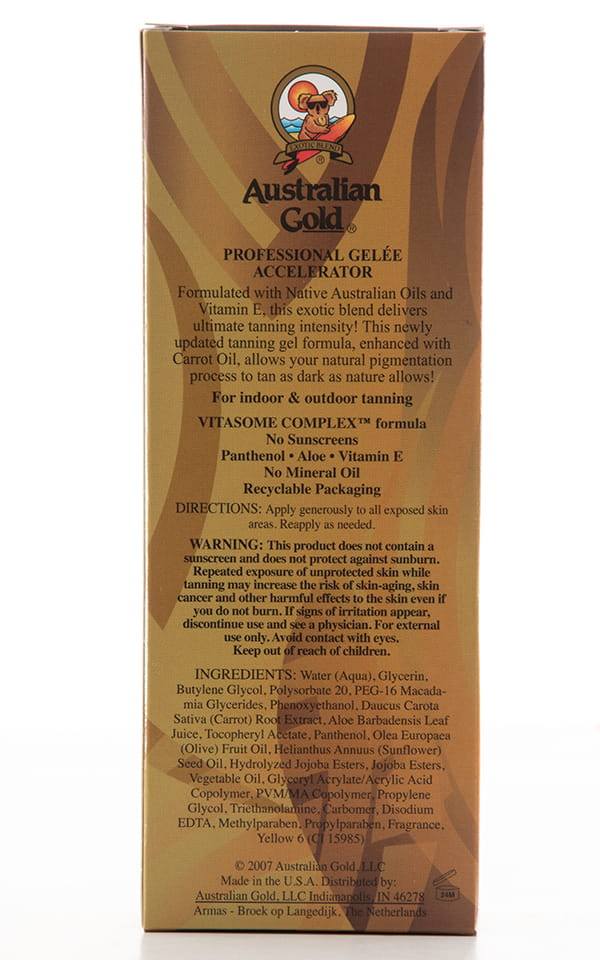 Australian Gold Professional Gelee Accelerator Label