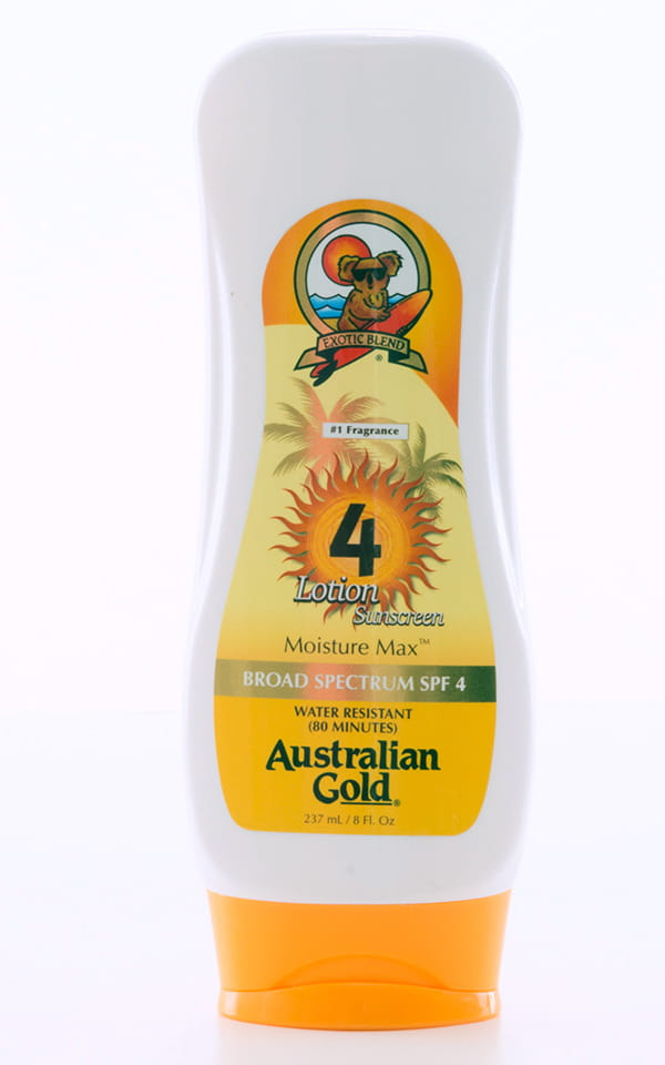 Australian Gold SPF4 Moisture Max Lotion Bottle