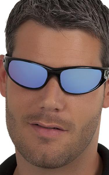 9e12ff8c7841e Peppers Floating Polarized Sunglasses Forward Ice-Blue Mirror Black Frames