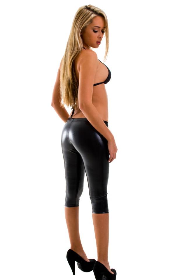 womens-capri-leggings-low-rise-capri-tights-sexy-lace-up ...
