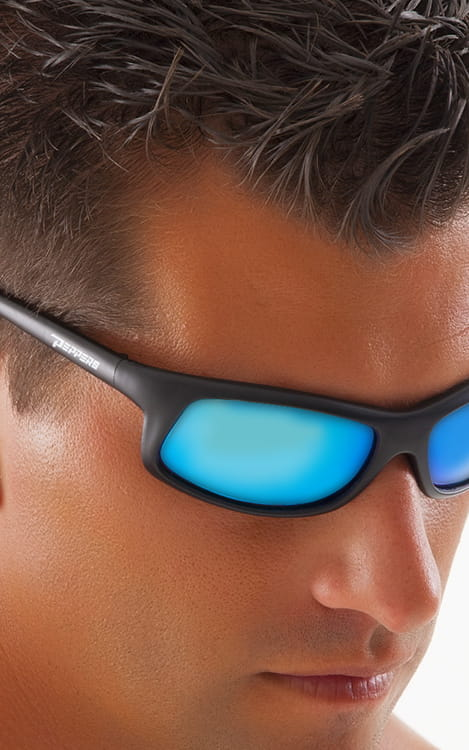 76ad2dc70a239 Peppers Floating Polarized Sunglasses Strike Ice Blue Mirror Black Frames