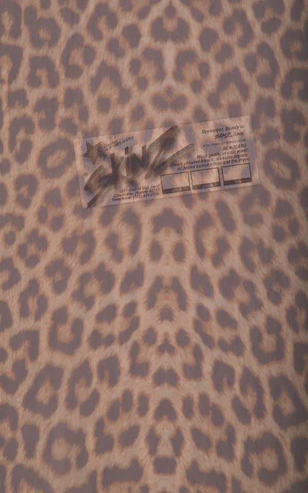 leopard mesh semi sheer