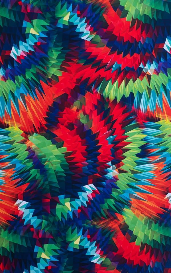 Square Cut Seamless Swim Trunks in 3D Spectrum Fabric