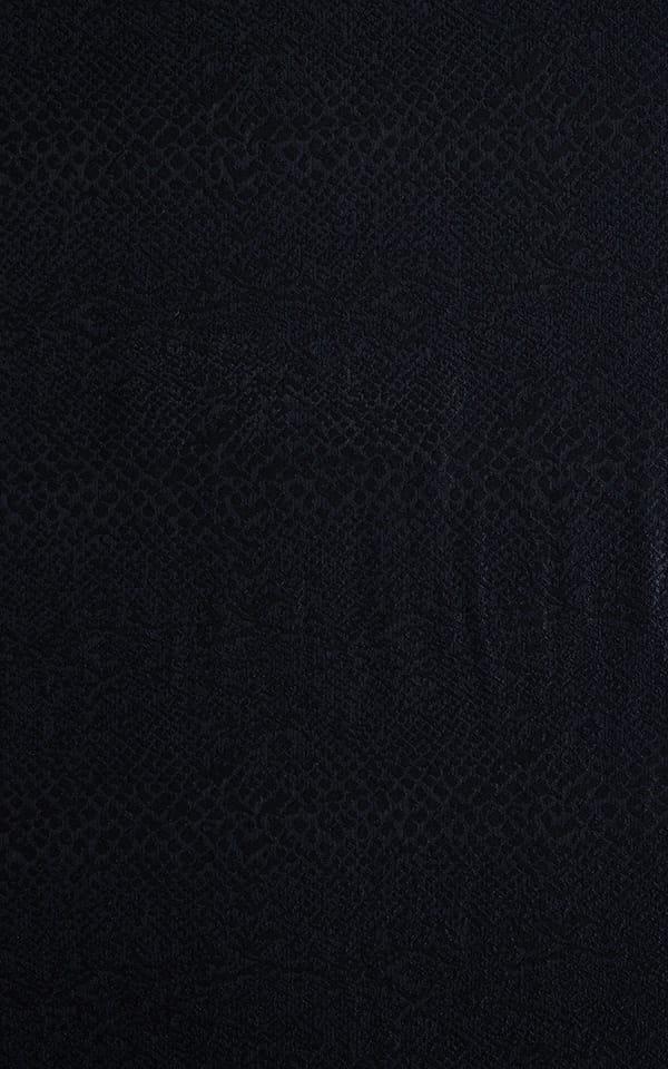 Color Blocked T Back Thong Bikini in Black Snakeskin & White Fabric
