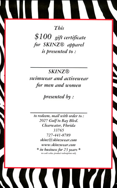 Gift-Certificates Front