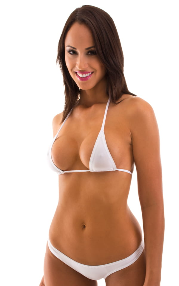Maximum Tanning Triangle Top in Semi Sheer ThinSKINZ White 1