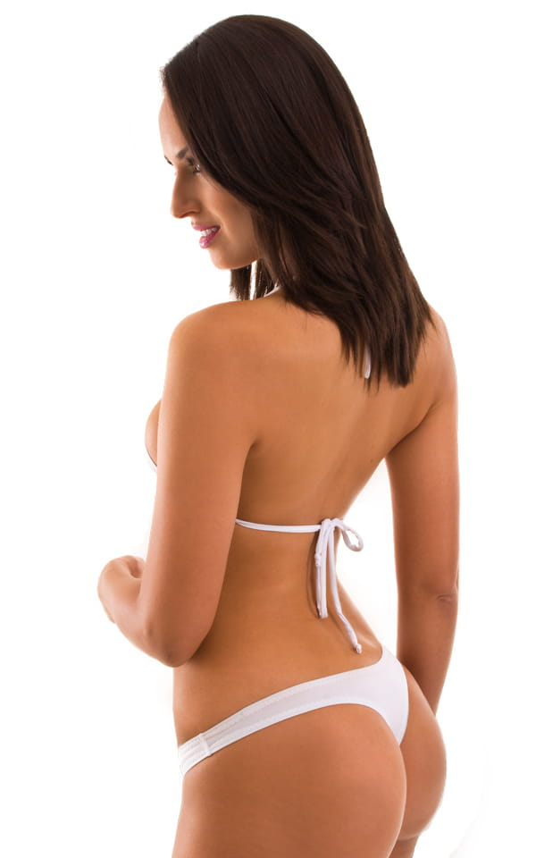 Maximum Tanning Triangle Top in Semi Sheer ThinSKINZ White 3