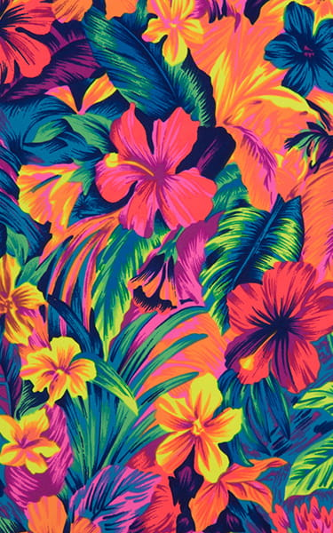 Hawaiian Floral Swimsuit Fabric