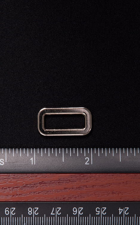 One Inch Silver Rectangle connector 1