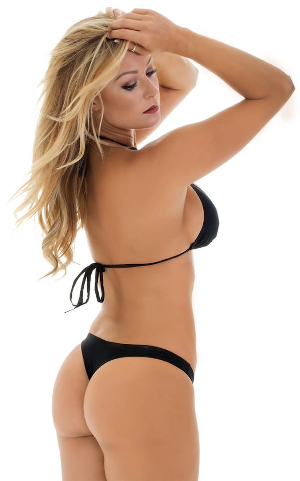 Low T Back Thong Bottom in Black 3