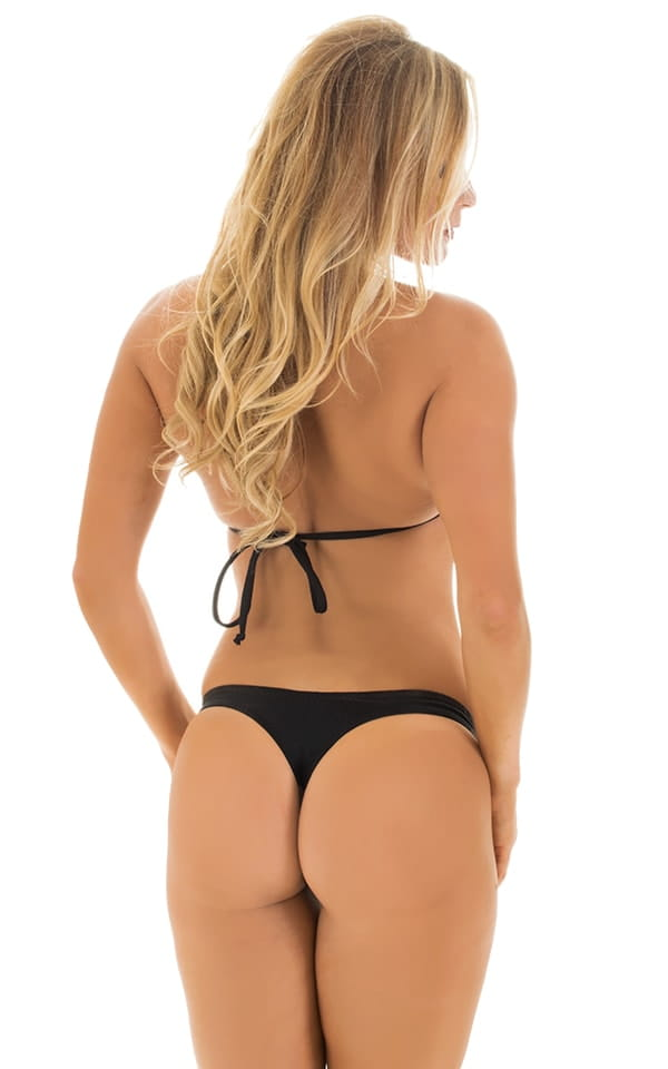 Low T Back Thong Bottom in Black 5