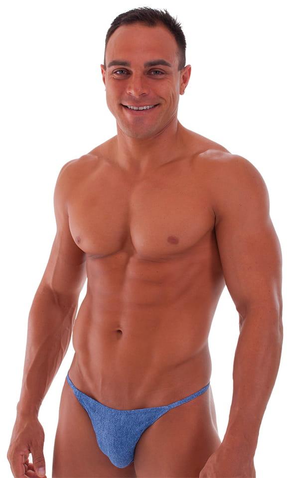 Super Low Brazilian Bikini in Faded Denim 1