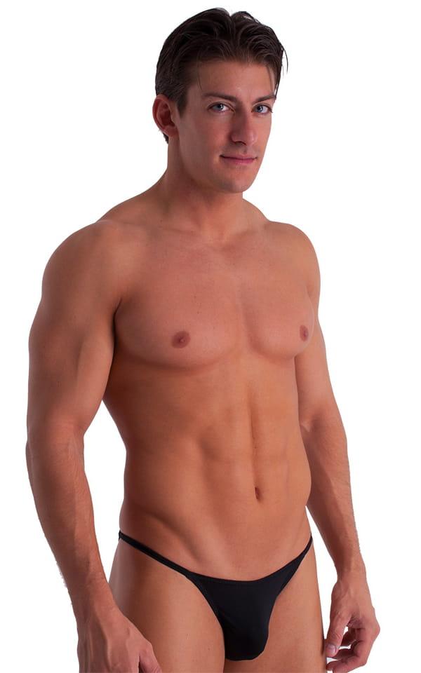 Super Low Brazilian Bikini in Semi Sheer ThinSKINZ Midnight Black 1