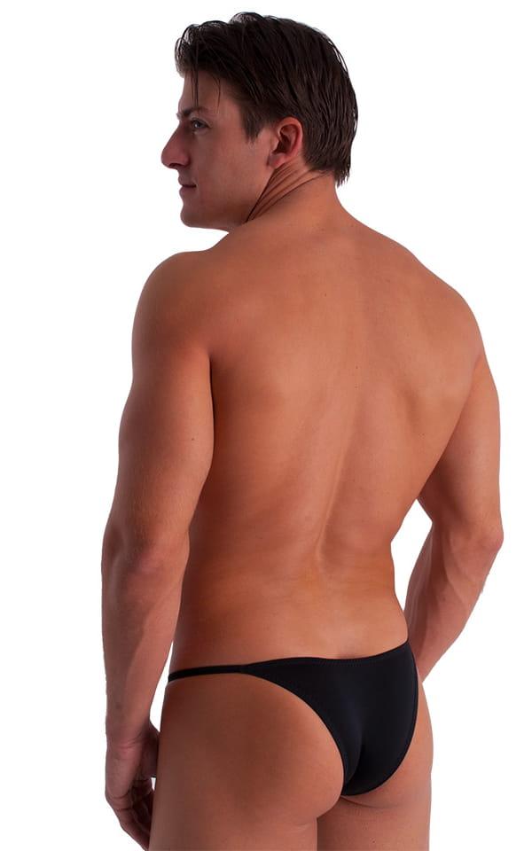 Super Low Brazilian Bikini in Semi Sheer ThinSKINZ Midnight Black 3