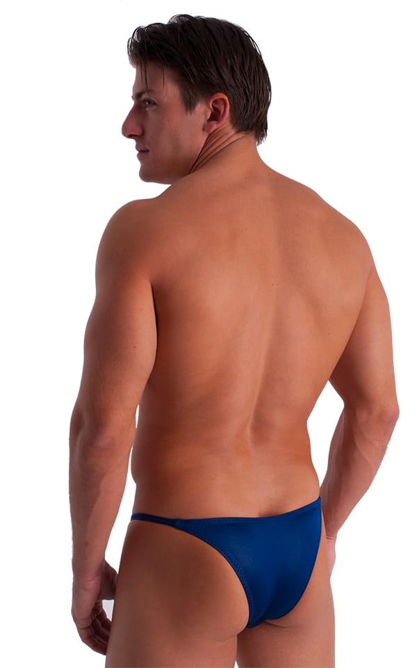 Super Low Brazilian Bikini in Wet Look Midnight Blue 3