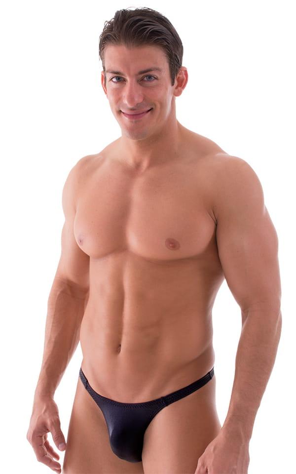 Rio Tanning Bikini Swimsuit in Wet Look Black 1