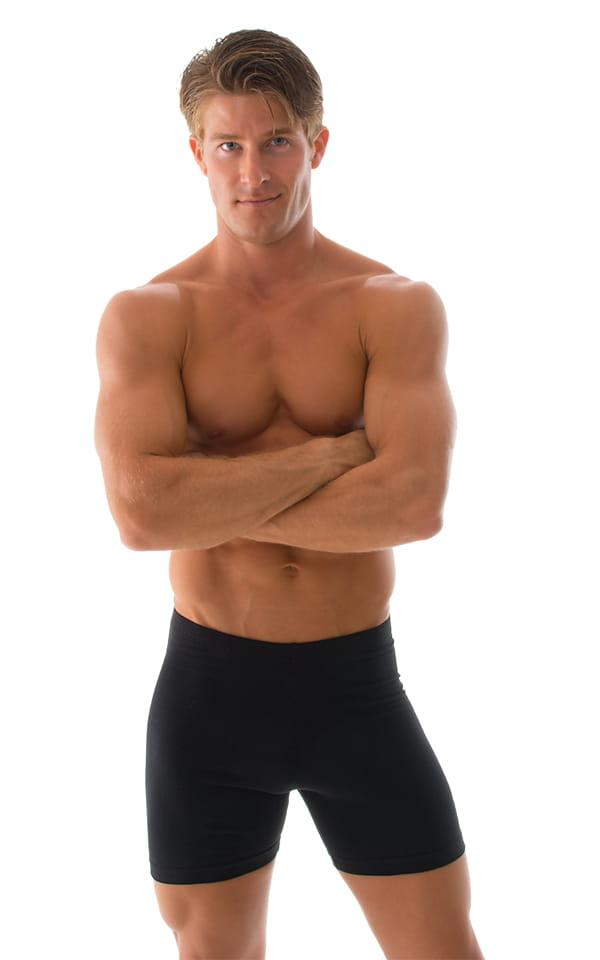 Mens black compression shorts