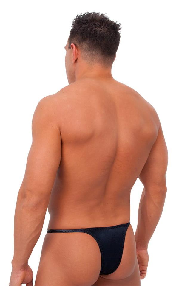 Sunseeker Micro Pouch Half Back Bikini in Wet Look Black Tricot nylon/lycra 3