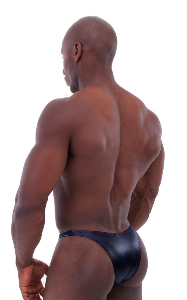 aeac5b0fe5e36 Bodybuilder Posing Suit - Narrow Back in Wet Look Black | Skinzwear.com