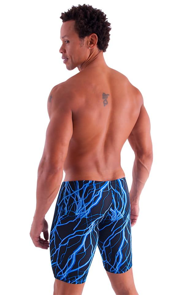 Extreme Lycra Jammer Shorts in Blue Lightning 3