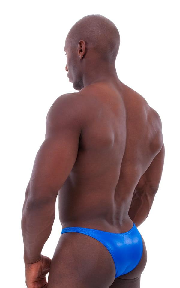 Bodybuilder Posing Suit - Narrow Back in Wet Look Royal Blue 3