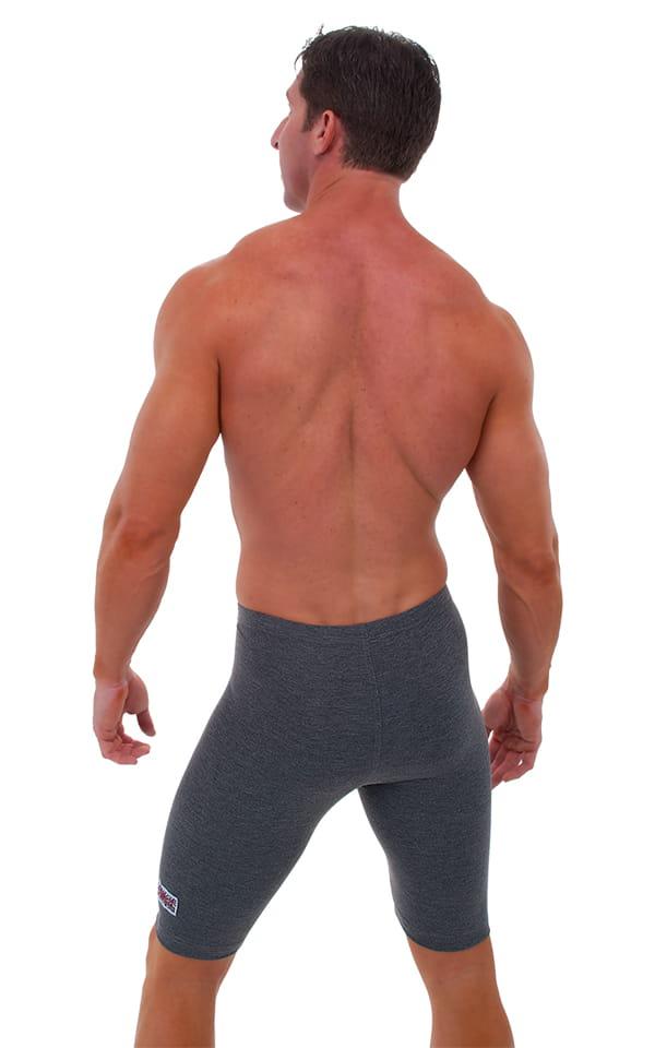 Lycra Sport Compression Gym Shorts in Dark Heather cotton-lycra. 3