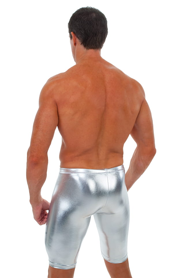 Competition Swim-Dive Jammers in Liquid Silver 4