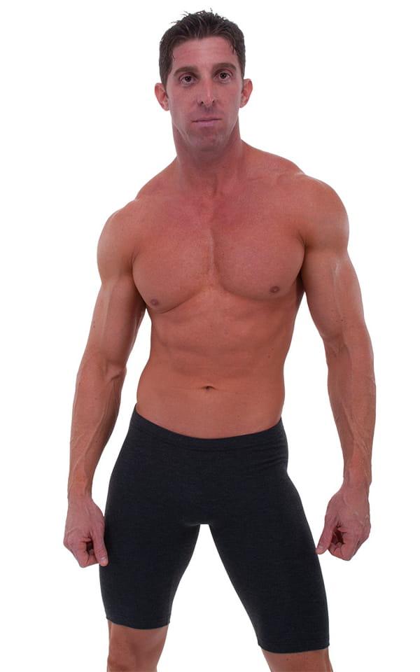 Lycra Bike Length Shorts in Wet Look Black by Skinz