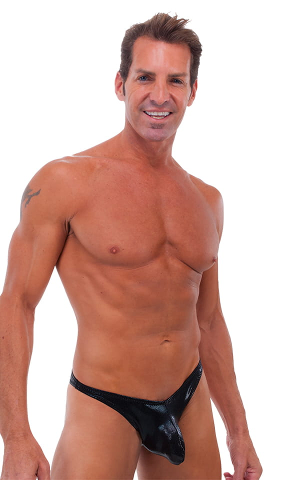 Exotic Dancer - Pouch Enhanced - Pistol Bikini in Mystique Black-Black 1