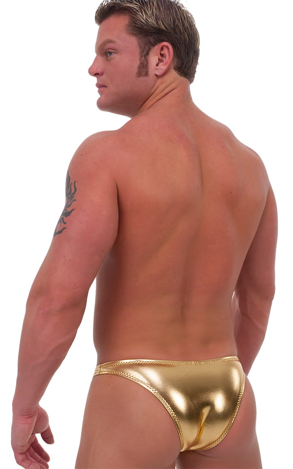 Exotic Dancer - Pouch Enhanced - Pistol Bikini in Liquid Gold (PRO Lining) 3