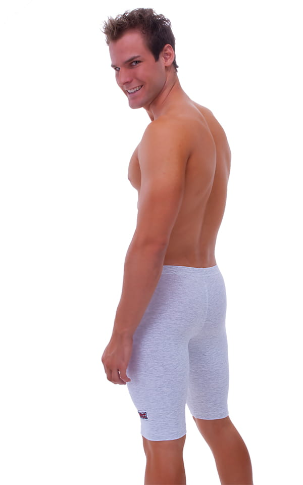Lycra Sport Compression Gym Shorts in Heather Grey cotton-lycra. 3