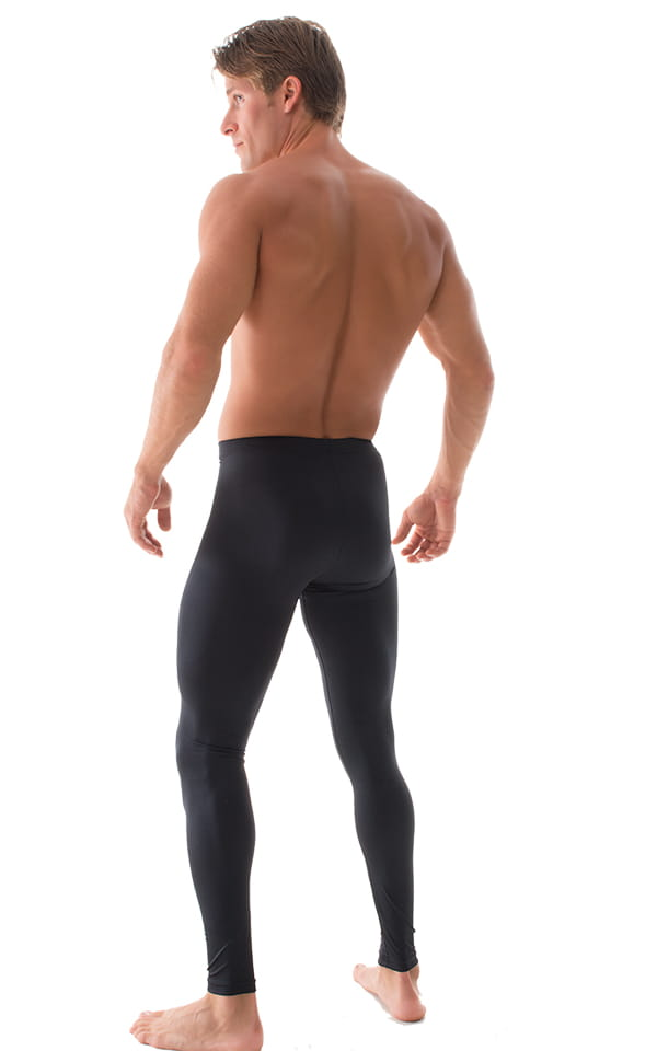 Mens Leggings Tights in Black nylon/lycra 3