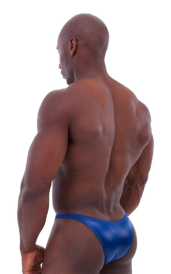 Bodybuilder Posing Suit - Narrow Back in Wet Look Navy 6