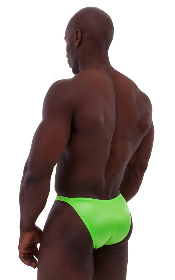 Posing Suit - Competition Bikini Cut in Neon Lime 3
