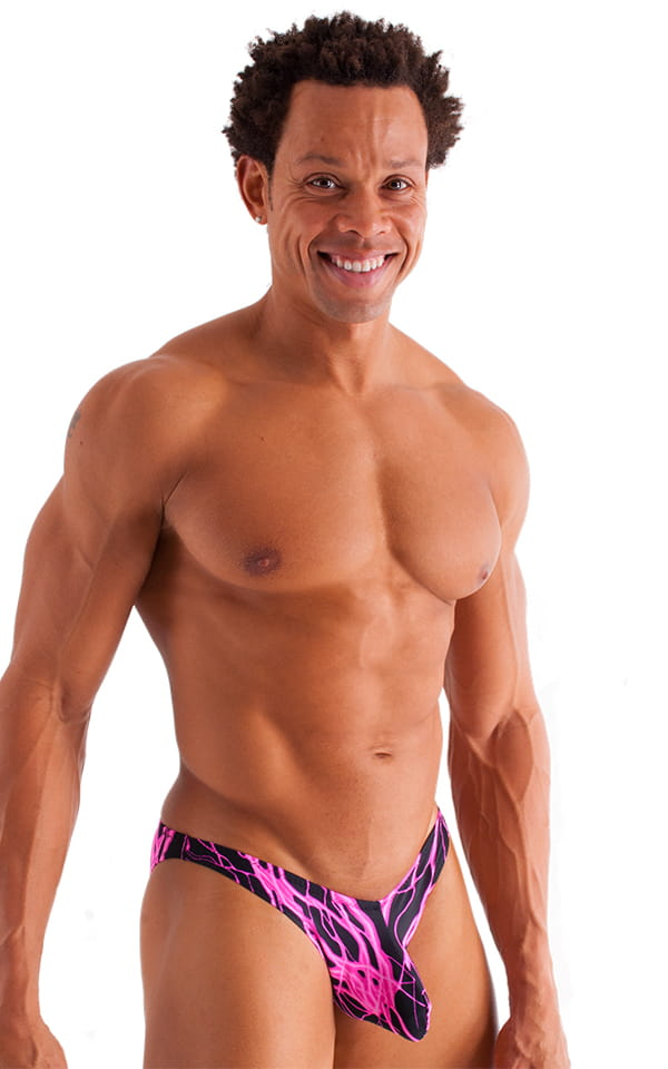 Exotic Dancer - Pouch Enhanced - Pistol Bikini in Hot Pink Lightning 1