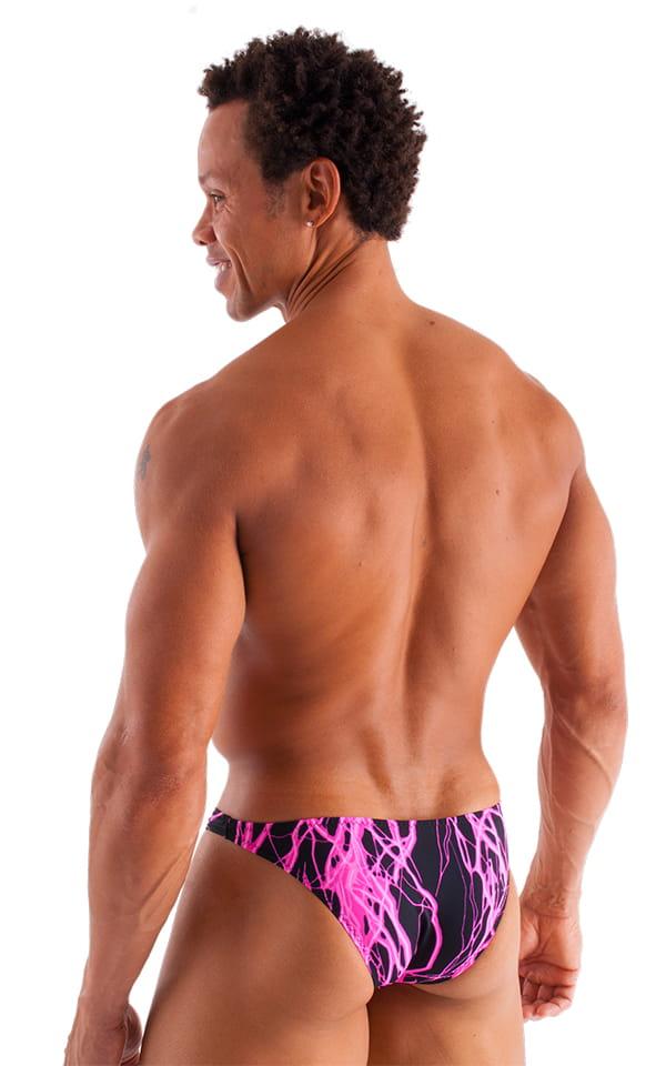 Exotic Dancer - Pouch Enhanced - Pistol Bikini in Hot Pink Lightning 3