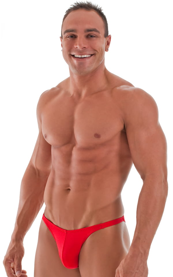 bodybuilding posting suit red front