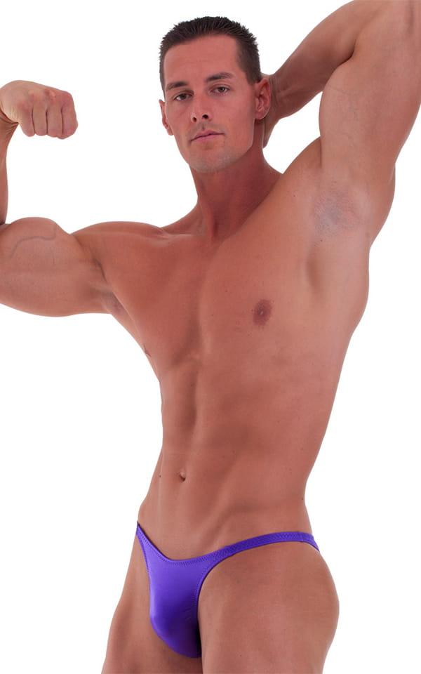 Bodybuilder Posing Suit - Narrow Back in Wet Look Purple 1