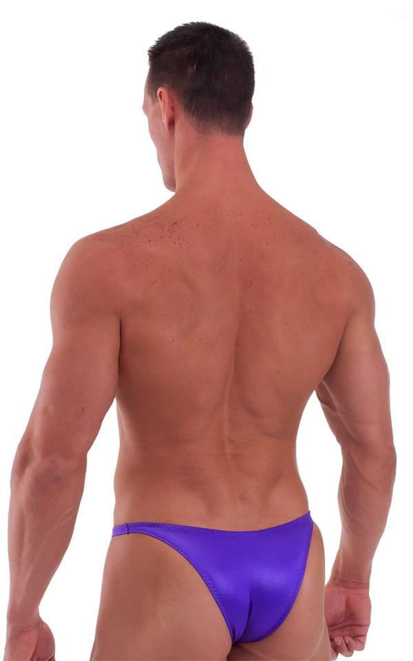 Bodybuilder Posing Suit - Narrow Back in Wet Look Purple 3